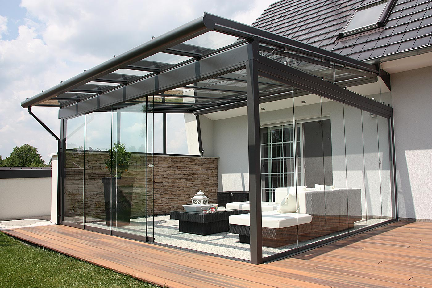 Terrassen-Dach-Verglasung - Pforzheimer Fensterbau